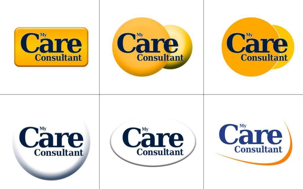 My Care Consultant logo development composite - shapes.